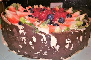 tort z czekoladą