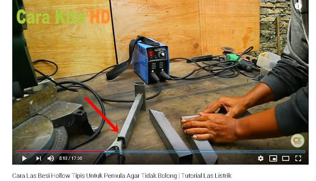 Teknik las Besi Hollow dengan las listrik