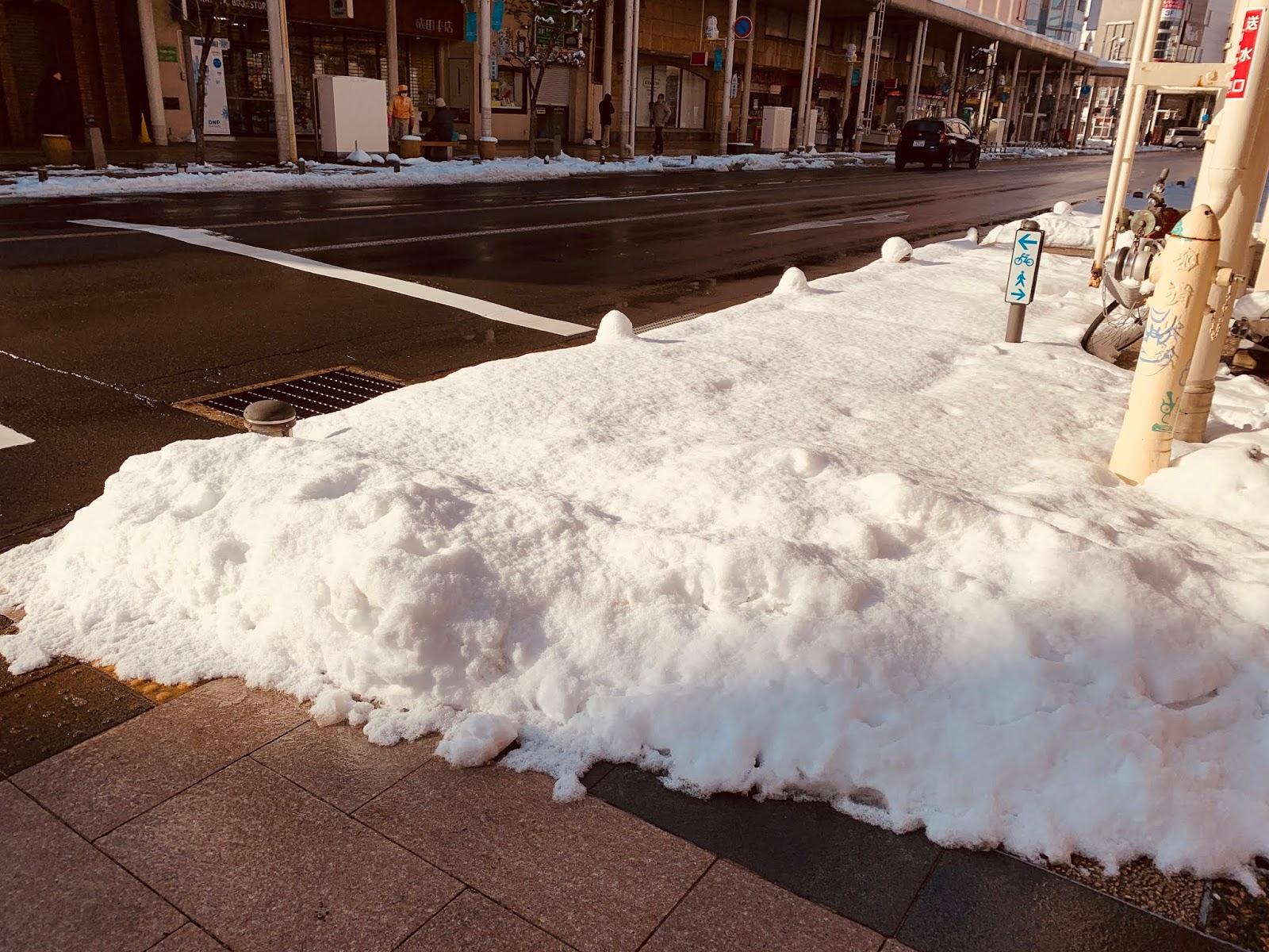 青森街道-融雪