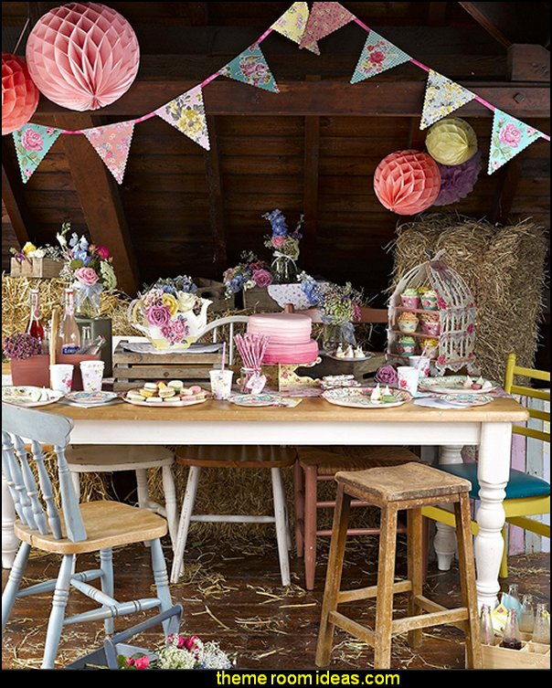 garden Talking Tables Truly Scrumptious Floral Plates for a Tea Party