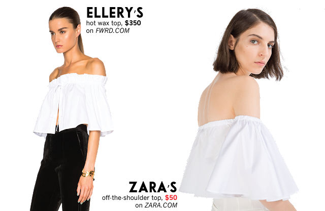 Ellery Zara off the should Dupe trend top