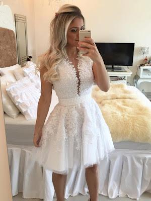 Vestido Branco Delicado