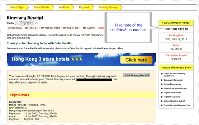 Ms  Jhessy Wandering Free: How to pay your Cebu Pacific