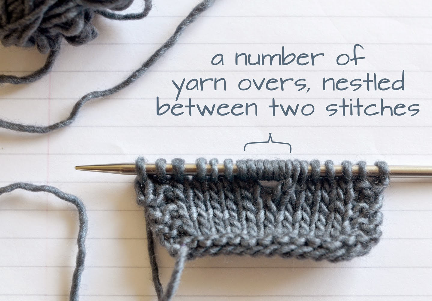 How to make Double and Multiple Yarn Overs.