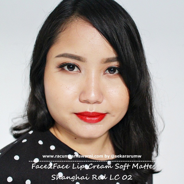 Swatch Face2Face Matte Lip Cream 02 Shanghai Red