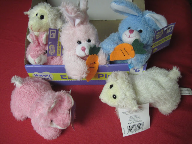 Dollar General clearance stuffed animals for Operation Christmas Child shoeboxes.