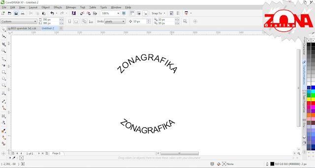 Cara Membuat Tulisan Melingkar dengan Corel Draw X7