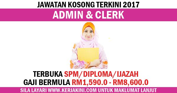 jawatan kosong admin and clerk