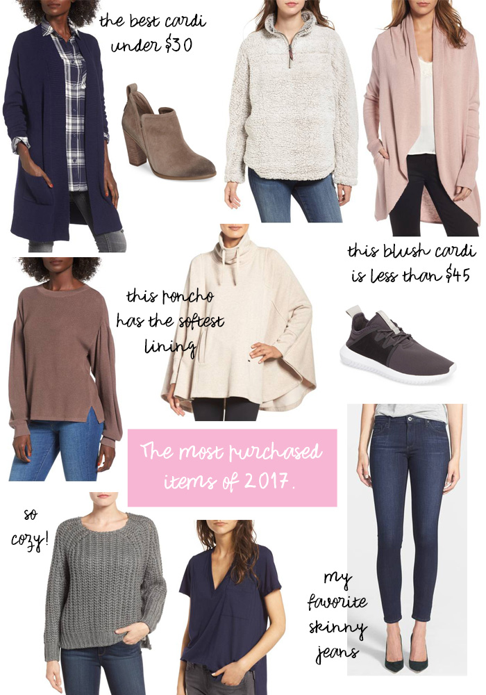 most popular items of 2017