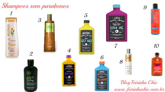 shampoos sem parabenos low poo