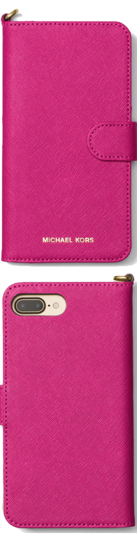 MICHAEL MICHAEL KORS Saffiano Leather Folio iPhone 7 Plus case