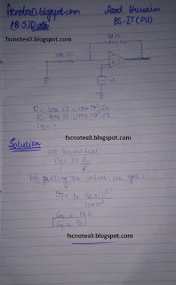 F.Sc ICS Notes: Physics XII: Chapter 18 Electronics Numerical Problems by Asad Hussain 6