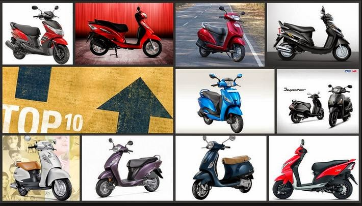 Top 10 Best scooty in india 2014