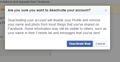 Deactivate My Facebook Account Now