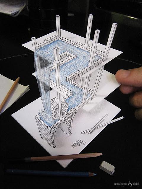 ilusi gambar 3d yang keren dan menakjubkan serta kreatif-3