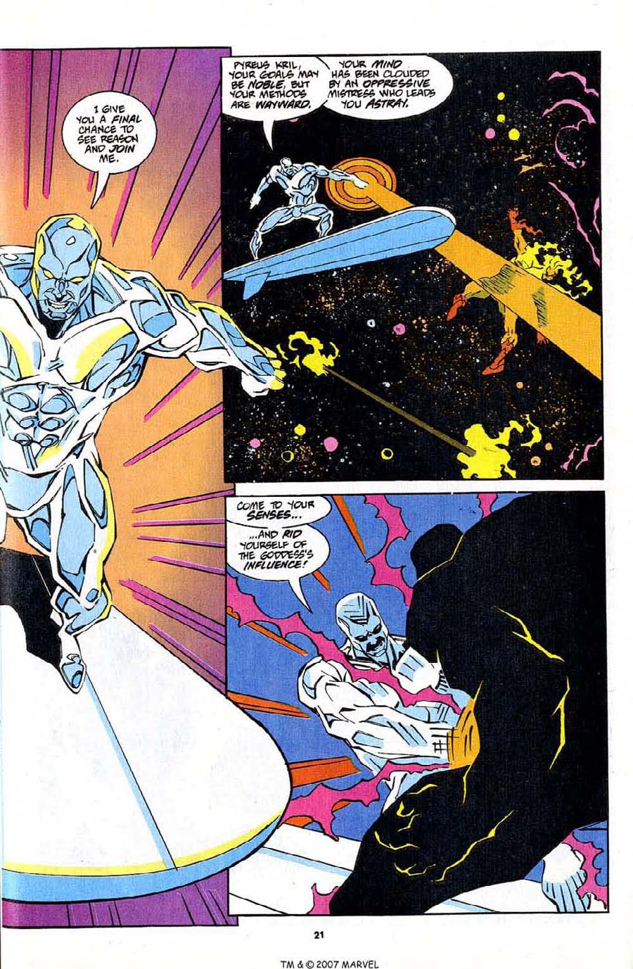 Read online Silver Surfer (1987) comic -  Issue #83 - 23
