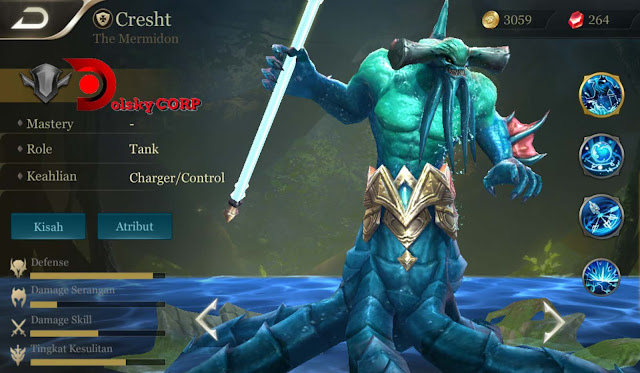 Arena of Valor : Hero Cresht ( The Mermidon ) Tanker Support Builds Set up Gear