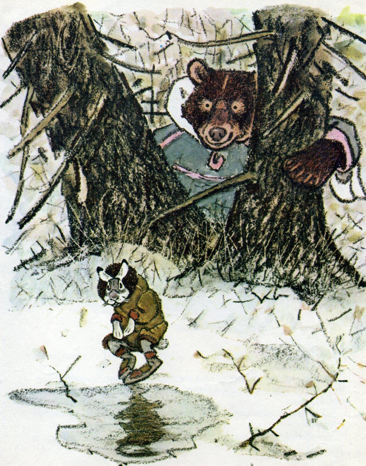 картинки к сказке заяц и медведь выбор отправляем