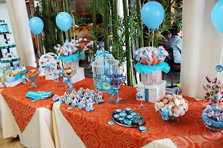 mesa de dulces bautizo - candy bar - dessert table