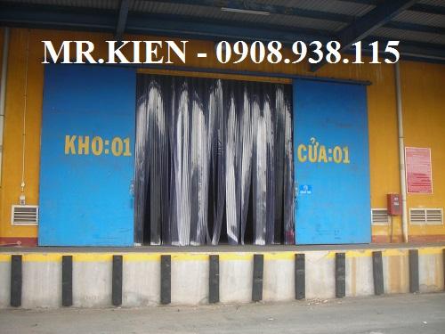 Thi công Rèm nhựa PVC ngăn bụi Tổng kho Hanjin Logistics