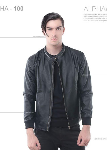 alphawear walkin leather jacket