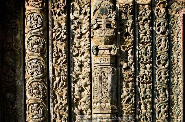 section of the south door showing all the nine layers of the door jamb with small intricate sculptures