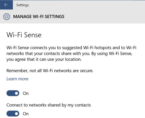 Why you share your Wi-Fi password said Windows 10