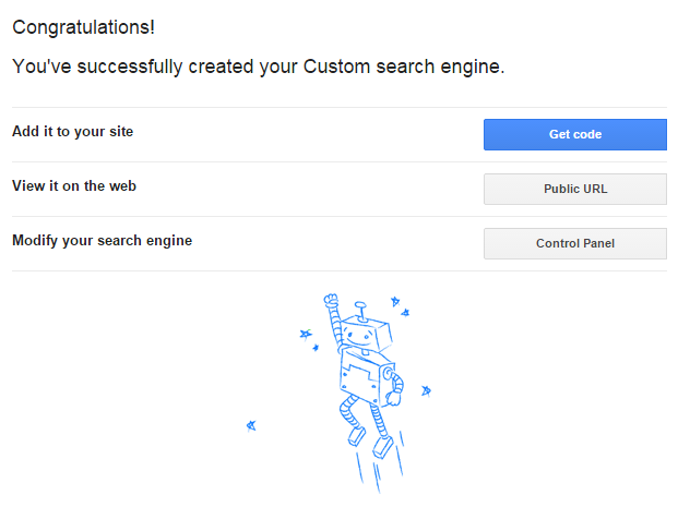 Google custom search box