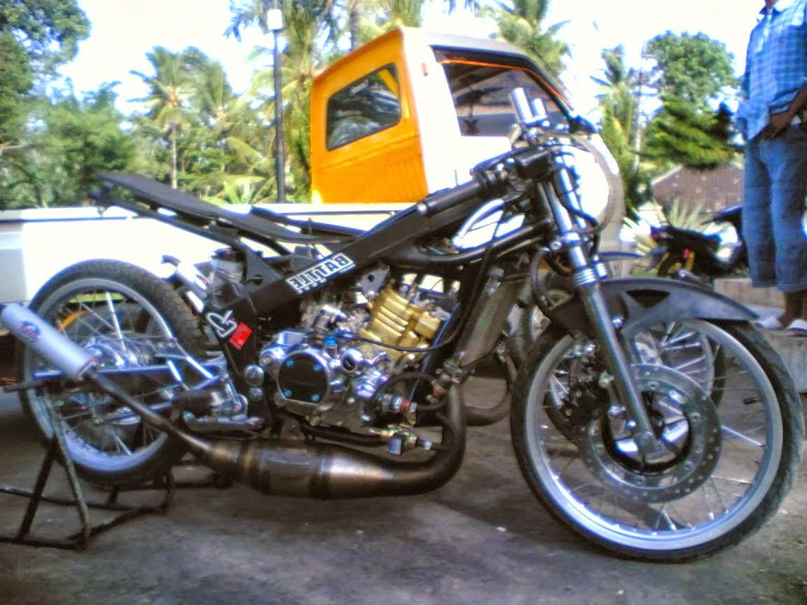 Motor Drag Satria 2tk 120 R 100 Gambar Terlengkap Kewak