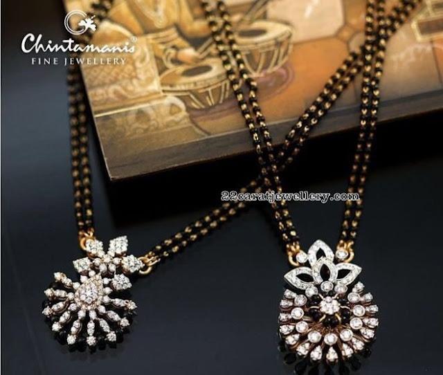 Classy Mangalsutra Diamond Lockets