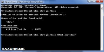 Memunculkan Password Wifi Dengan CMD