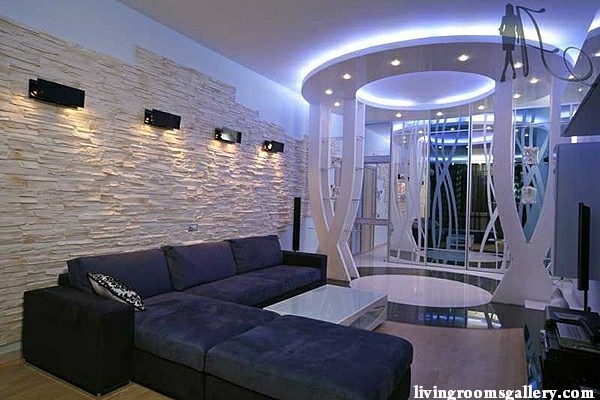 led ceiling lights for metal ceiling in living and cinema room