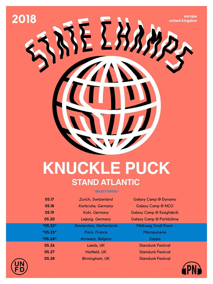 UNRAVELED: State Champs anounce European tour with Knuckle