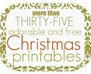 printables - 30+ FREE Christmas Printables