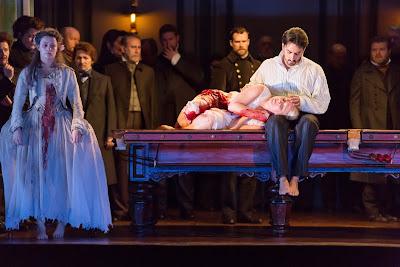 Diana Damrau, Charles Castronovo - Donizetti's Lucia di Lammermoor - Royal Opera House  photo ROH/Stephen Cummiskey