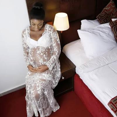 Queen Nwokoye pregnancy shoot