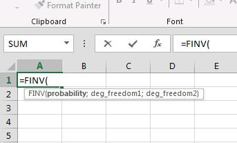 Cara Mendapatkan Nilai T-tabel & F-tabel di Excel 2013