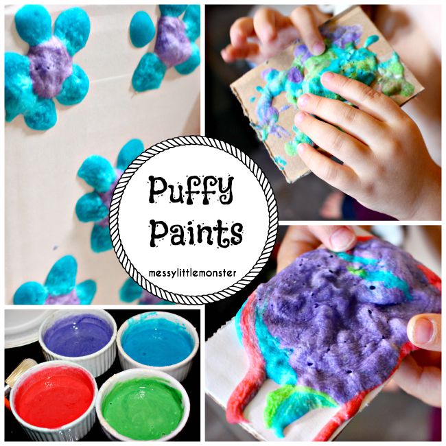 Homemade microwave puffy paint recipe