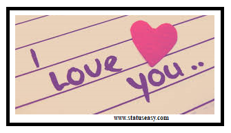 I Love You written on page image with heart photo, DP