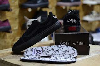 Sepatu Vans Golf Wang Full Black Suede Waffle ICC