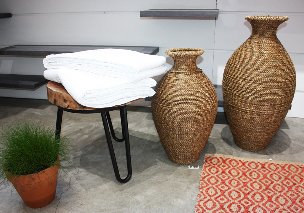 vases Bergères décoratifs en tressages artisanale