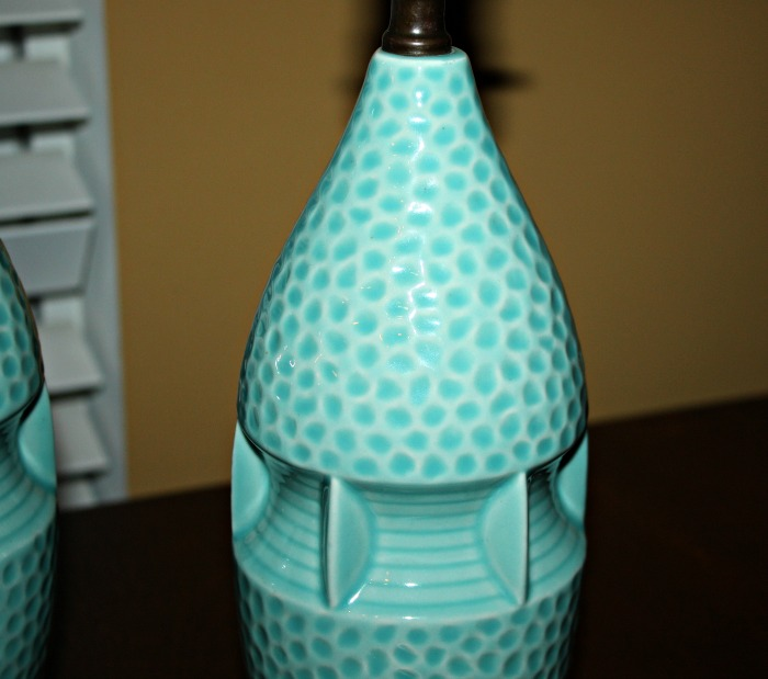 Vintage lamp with beautiful color and texture