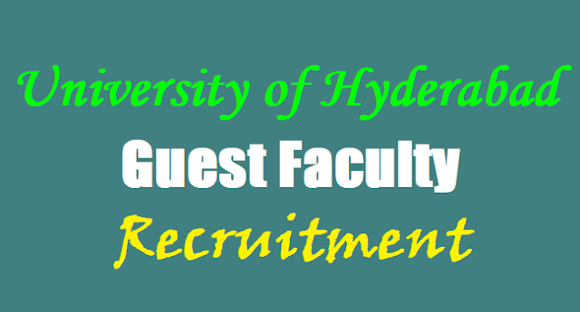 University of Hyderabad Guest Faculty Recruitment,UoH Recruitment