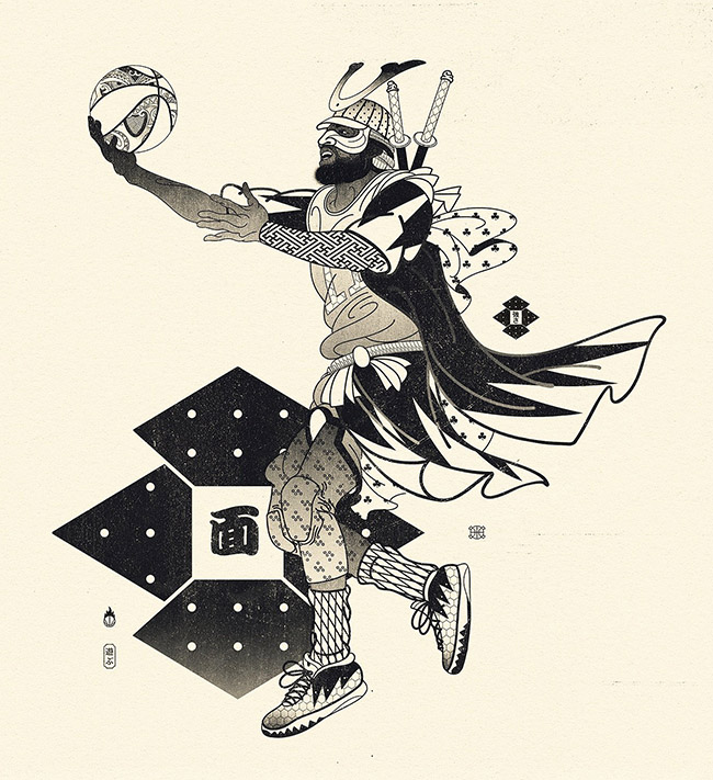 Andrew Archer: Edo Ball - #YellowMenace Basketball Art Collection