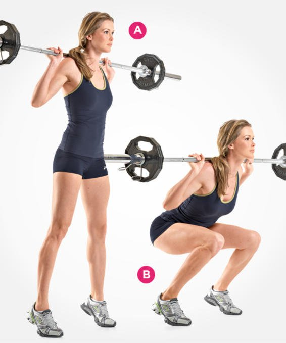 BARBELL SIFF SQUAT