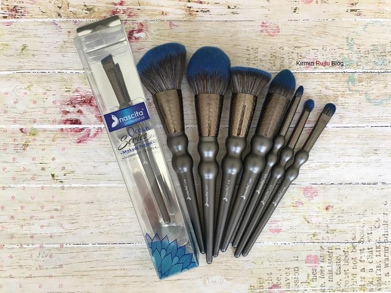Nascita mavi makyaj fırçaları