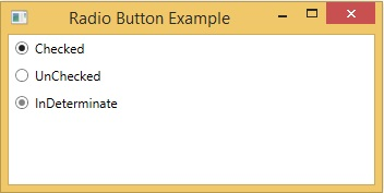 How to use Radio Button in WPF