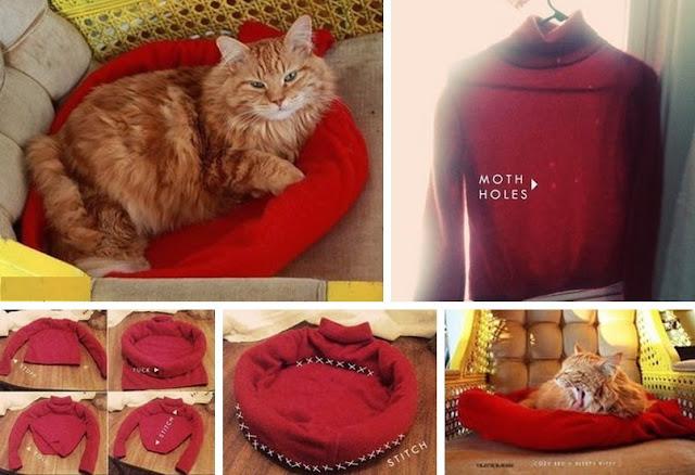 mascotas, camas, diys, manualidades, labores, reciclar