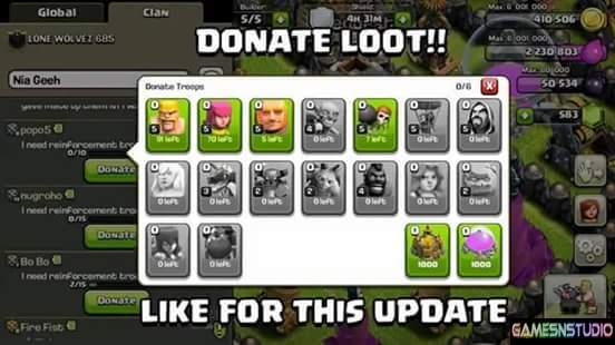 Can You Donate Resources In Clash Of Clans