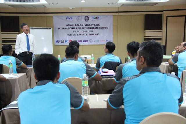 AVC tổ chức khóa học trọng tài bóng chuyền bãi biển quốc tế Candidate tại Thái Lan